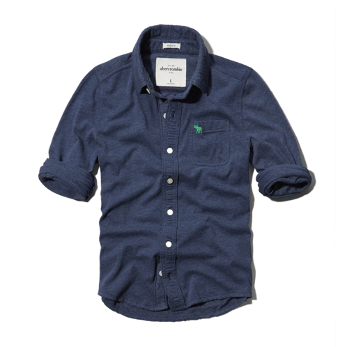 guys knit button-down shirt