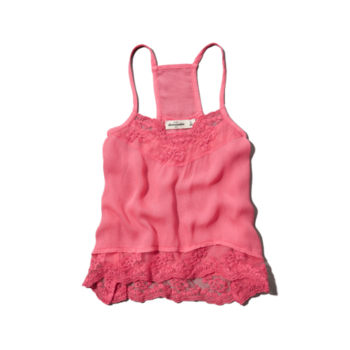 girls lacy mesh cami