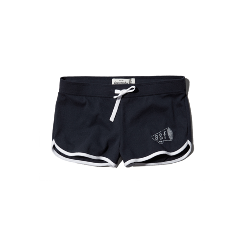 girls a&f curved hem shorts