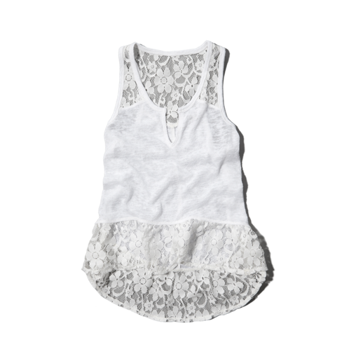 girls lacy snit tank