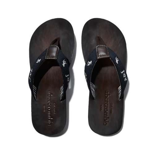 guys classic leather flip flops
