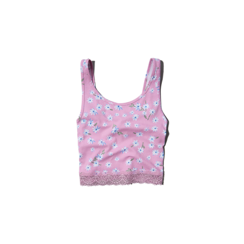 girls slim cropped tank top