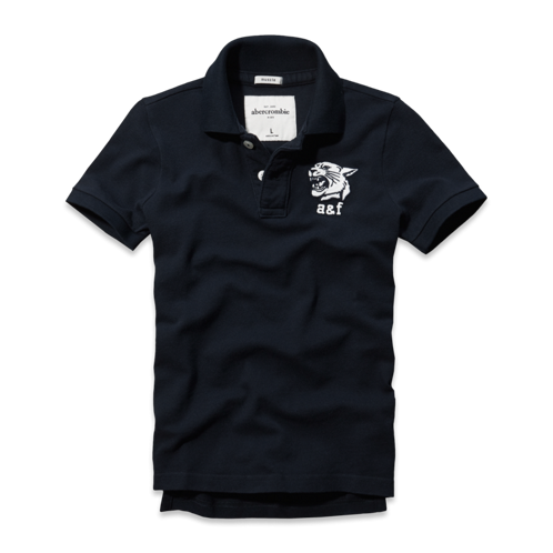 tops glow in the dark graphic polo