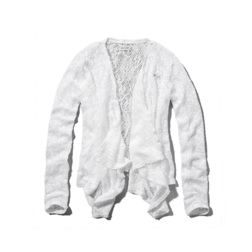 girls lacy snit cardigan