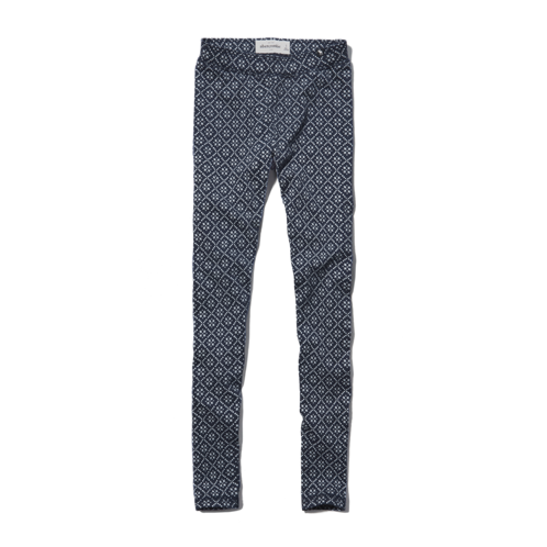 bottoms a&f high rise pattern leggings