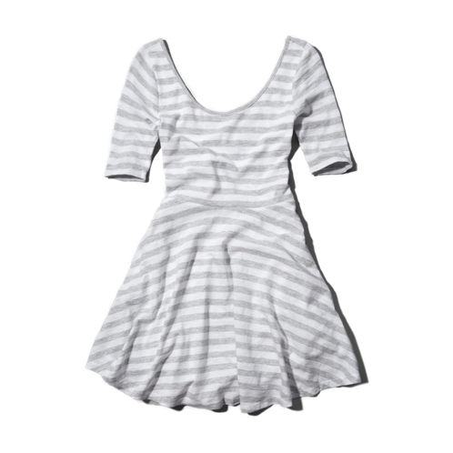 girls striped skater dress