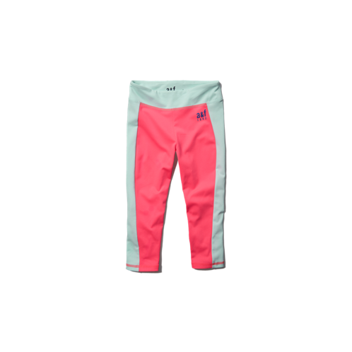 girls a&f active super crop leggings