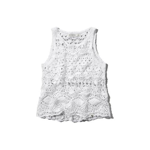 girls open-knit sweater tank