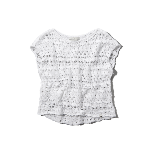 girls open-knit sweater tee