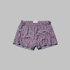 girls drapey printed shorts