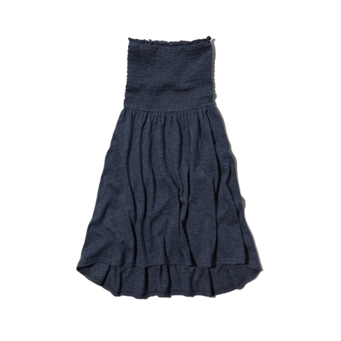 girls smocked strapless dress