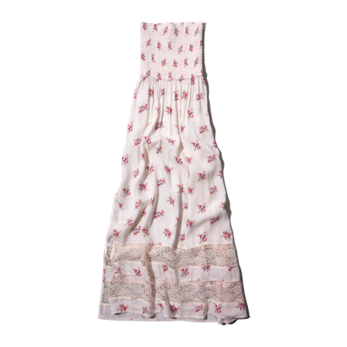 girls lacy floral maxi dress