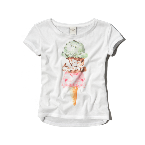 girls glitter treats graphic tee