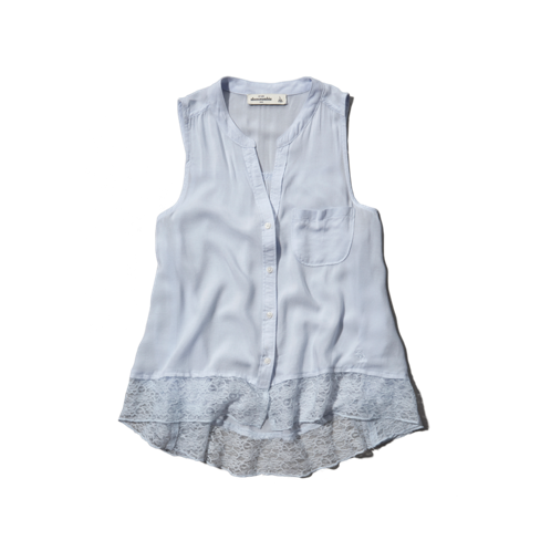 girls lacy hem shirt
