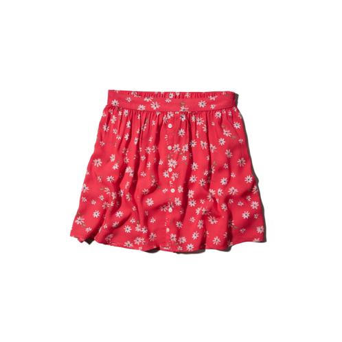 girls natural rise floral skater skirt