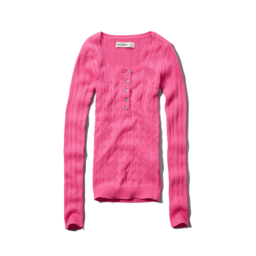 girls cable-knit sweater