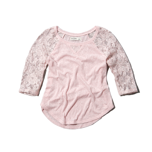 girls shine raglan tee