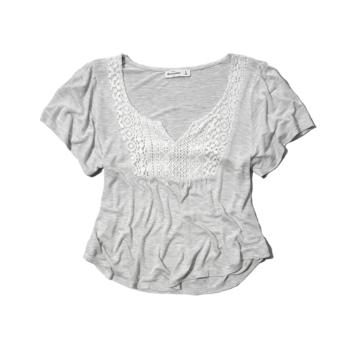 girls lacy peasant top