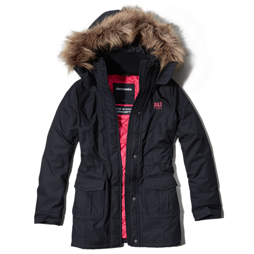 girls a&f all-season weather warrior parka