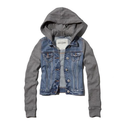 girls denim and fleece jacket