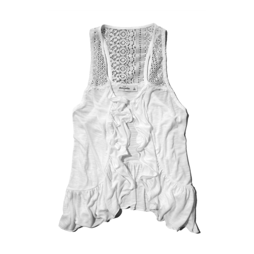 girls lacy ruffle vest