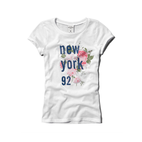 girls floral logo graphic tee