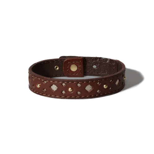 girls leather shine bracelet