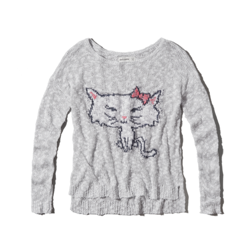 girls textured intarsia sweater