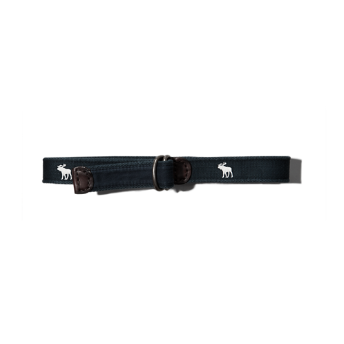 boys logo icon woven belt