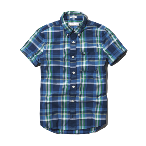 plaid button-down shirt plaid button-down shirt