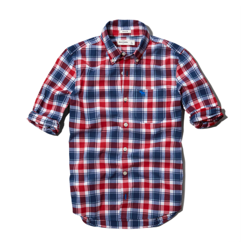 boys classic plaid shirt
