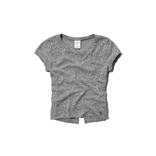 girls cropped tee