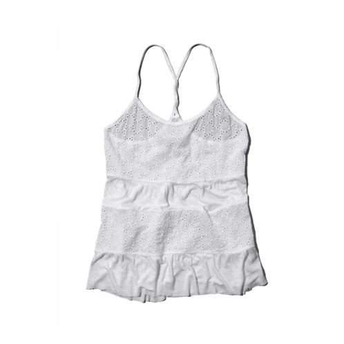 girls tiered lace and knit cami
