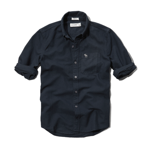 boys solid oxford shirt