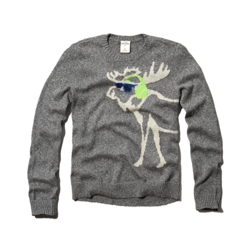 Sweaters intarsia moose sweater