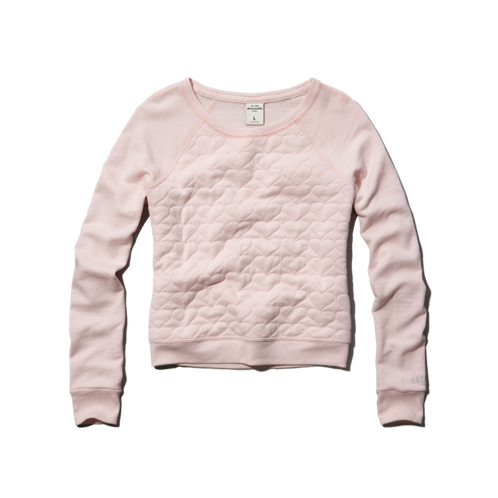 girls quilted heart sweatshirt