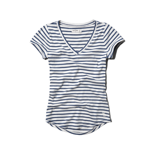 girls striped tee