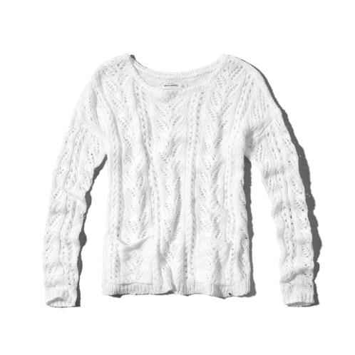 girls open stitch sweater