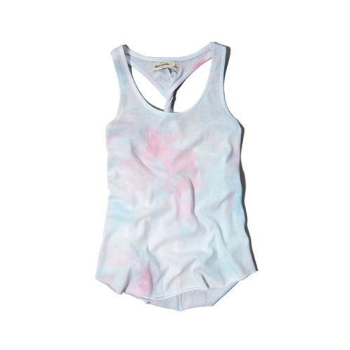 girls tie-dyed graphic tee