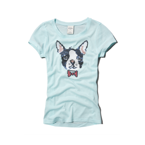 girls sequin animal graphic tee