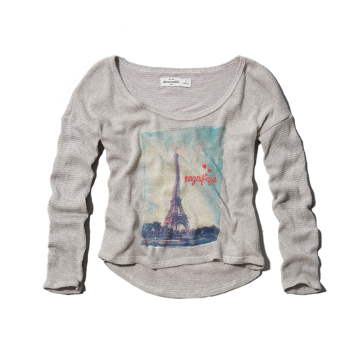 girls travel graphic cropped snit
