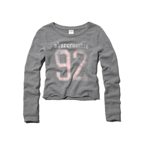 girls cropped sweatshirt