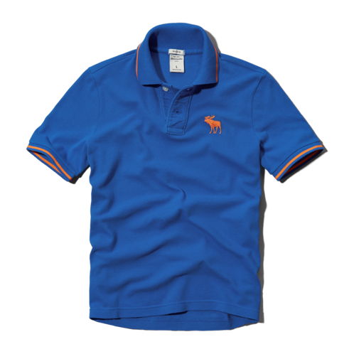 guys pop color trim polo