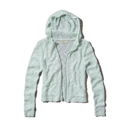 girls textured hoodie sweater