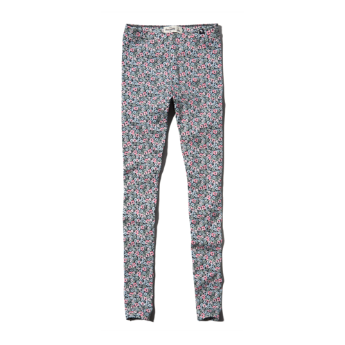 girls a&f high rise printed leggings