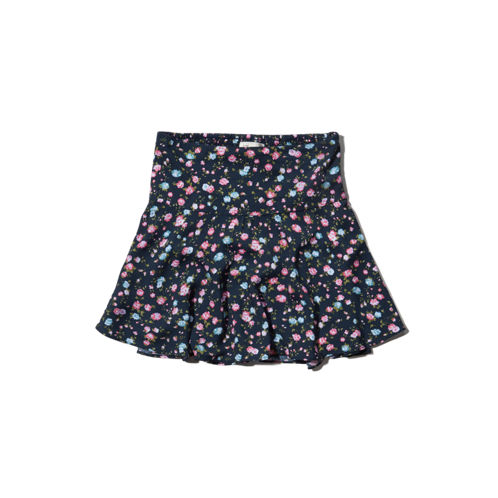 girls natural waist floral dropwaist skirt