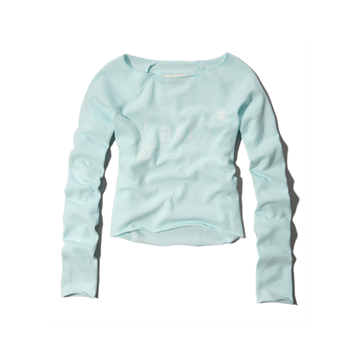 girls heart print sweatshirt