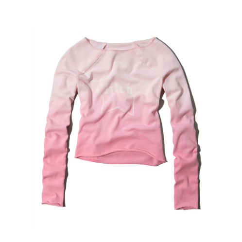 girls star print sweatshirt
