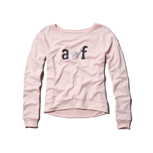 girls sequin crew sweatshirt