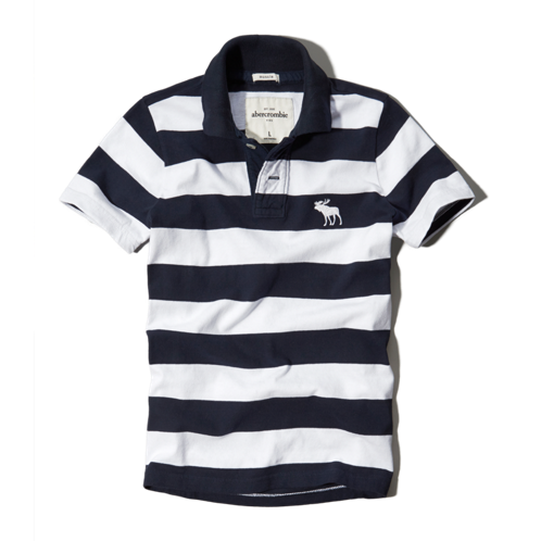 tops striped polo